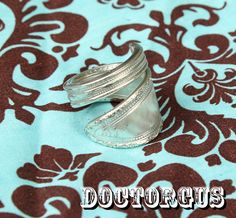 Sterling Silver Plated Spiral Spoon Ring  Recycled by doctorgus, $9.99