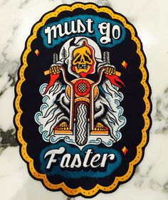 MUST GO FASTER back patch. 2 WHEEL EDITION.