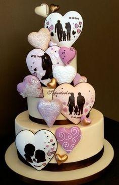 ideas wedding cakes fondant design for 2019 Ivory Wedding Cake, Unique Wedding Cakes, Beautiful Wedding Cakes, Wedding Cake Designs, Beautiful Cakes, Gold Wedding, Bolo Fashionista, Fondant Cakes, Cupcake Cakes