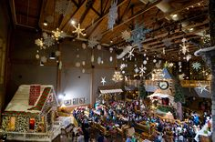Attend nightly Story Time in your pajamas at Great Wolf Lodge Indoor Waterpark Resort. The Grand Lobby comes to life during the howlidays, and even nightly Story Time offers a little extra magic as you listen to stories under the snowflakes.