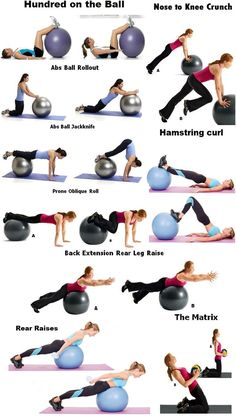 1000+ images about exercise on Pinterest | Ball workouts ...