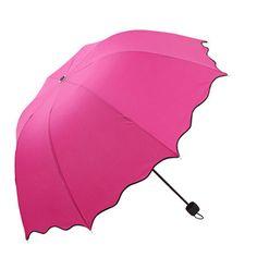 Solid color Women Compact Three Folding Rain umbrellas ravel Strong Frame Umbrellas for girl rainy sunny day outdoor activity