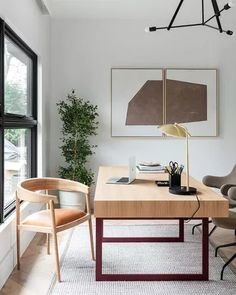 Home Office Space, Home Office Decor, Office Furniture, Home Decor, Office Ideas, Desk Office, Modern Office Decor, Contemporary Office, Office Inspo
