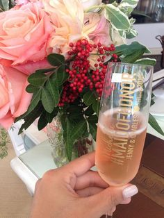 15 Creative Ways to Propose to Your Bridesmaids - Personalized Champagne Glass via Etsy