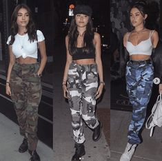 Outfits with Camo Pants- Camo pants, basically the 'camouflage' fashion, is the latest must-have item to have in your wardrobe! Camo Jeans Outfit, Cute Camo Outfits, Outfits With Camo Pants, Camo Dress, Army Outfits, Cute Concert Outfits, 30 Outfits, Teenage Outfits, Outfits For Teens