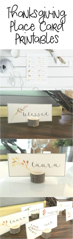 Make your guests feel welcome with these Thanksgiving Place Card Printables.