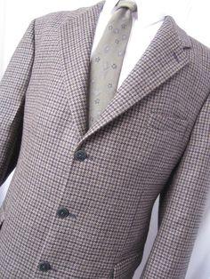 Jacket 46 Tall Tassi Wool Houndstooth Tweed Beige Sport Blazer Fit Mens Coat Blazer Jacket, Leather Jacket, Business Formal, Ebay Auction, Houndstooth, Mens Fashion, Fashion Trends, Tweed, Classic Style