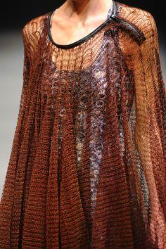 Johan Ku / 2014SS / #brown #mesh #knit