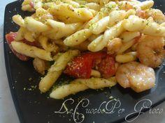 Pasta gamberetti, pomodorini e pistacchio!   ricetta gustosa primi piatti