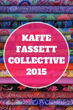 We love Kaffe Fassett Collective 2015. Choose from 6 BEAUTIFUL quilt kits & fat quarters by color story.