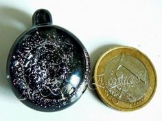 """craft : lampworking dichroic pendent hand made by Ar'Bords Essences.  You can buy it on sales now in my """"a little market"""" shop ... http://ar-bords-essences.alittlemarket.com"""