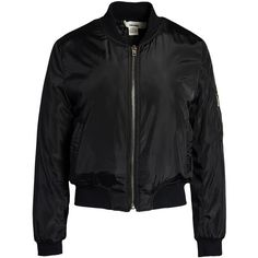 Sans Souci Short bomber jacket ($59) ❤ liked on Polyvore featuring outerwear, jackets, black, bomber jacket, sans souci, short jacket, zip up jacket and bomber style jacket Black Bomber Jacket, Bomber Jackets, Outerwear Jackets, Polyvore, Black Wardrobe, Outfits, Jacket Style, Motorcycle Jacket, Black Tops