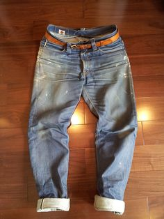 Big John Japan M1 Gunjo LONG JOHN blog ABCDenim blog jeans worn-out projects denim raw rigid raw ageing authentic faded worn-out projects (7)