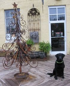 Black Dog Salvage - Architectural Antiques & Custom Designs: The Ideal Christmas Tree - no watering required!