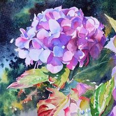 floral watercolor paintings at DuckDuckGo Watercolor Artists, Watercolour Painting, Painting & Drawing, Watercolors, Watercolor Video, Light Painting, Art Floral, Abstract Flowers, Watercolor Flowers