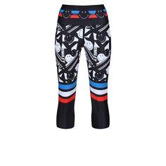 Tight Leggings, Capri Leggings, Capri Pants, Monochrome Pattern, Workout Capris, Zumba, Body Shapes, Smiley, Tights