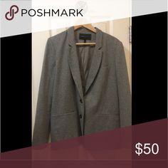 Bcbg grey cotton blazer Grey cotton Bcbg blazer medium BCBGMaxAzria Jackets & Coats Blazers