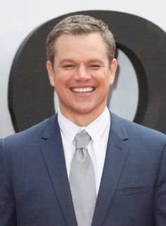 "Could that smile get any wider?! Matt Damon attends the ""Jason Bourne"" European premiere at the Odeon Leicester Square on July 11, 2016 in London, England."