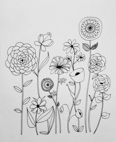 Embroidery Pattern of Basic Line Drawing B&W version, by Lisa Congdon go to Creativebug.com. This link Broken. jwt