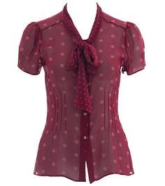 Little Scorched Almond Blouse in Red from Alannah Hill