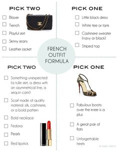 simply seleta french outfit formula                                                                                                                                                      More