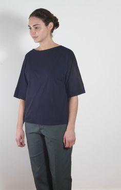 Sofie D'Hoore Turn T-Shirt 3/4 Marine - Tops