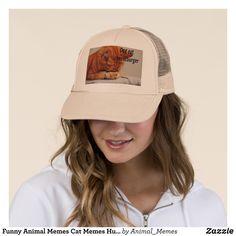 Funny Animal Memes Cat Memes Humorous Photos Trucker Hat - Urban Hunter  Fisher Farmer Redneck Hats 4af1fa7c335
