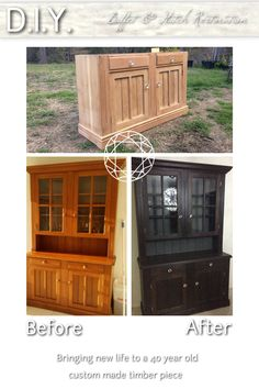 Buffet & Hutch restoration - matching item to dark other timber furnishings