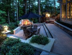 A beautiful terraced patio design with a fire feature completed by The Ohio Valley Group in the Cleveland area. #housetrends https://www.housetrends.com/specialist/ohio-valley-group