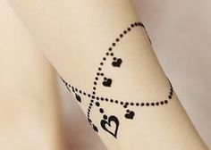 anklet with charms