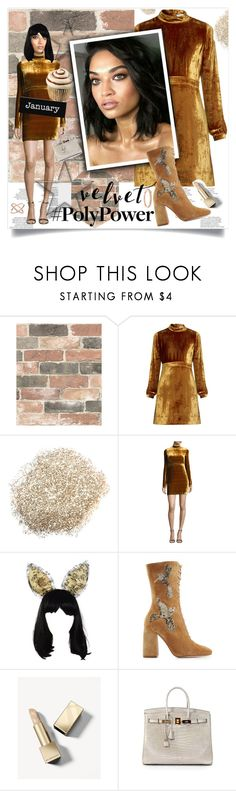 """Love is not a victory march"" by lseed87 ❤ liked on Polyvore featuring Brewster Home Fashions, A.L.C., Dunn, Maison Michel, RED Valentino, Burberry, Hermès, Accessorize, Boots and dress"