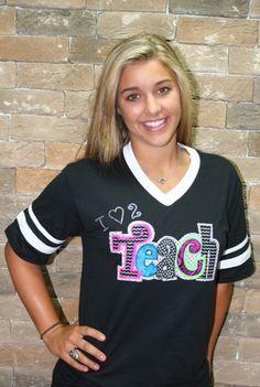Cute Teacher Tshirt! I (heart) 2 Teach (AUGUSTA), $30.00.       For my daughter Anna Ahrens.