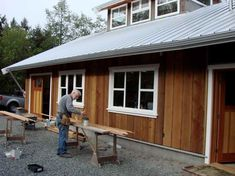 board and batten siding home decor categories. we continue sharing some ideas about board batten wood siding design. click the images for more d Exterior House Siding, Barn Siding, Cedar Siding, Wood Siding, Cement Siding, Cottage Exterior, Vinyl Siding, Siding Cost, Board And Batten Exterior