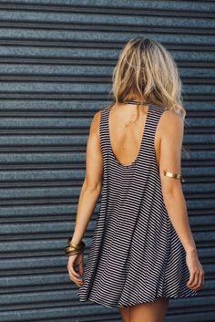 Stripe dress.: