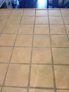 Clean tile grout without scrubbing