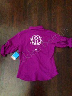 Monogrammed Fishing Shirt long sleeve Adult sizes Beach coverup S M L XL 2XL 3XL 94HDDMhcp