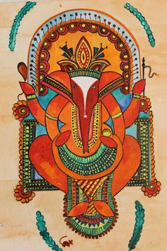 Ganesh or Vinayaka is the Hindu deity representing success as well as being the destroyer of evils and obstacles. 7.5 x 12 inches. Free shipping! $36