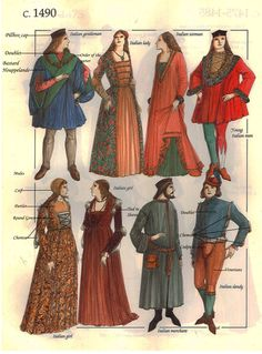 Bottom left gown styles for the silhouette of Juliet's costume.