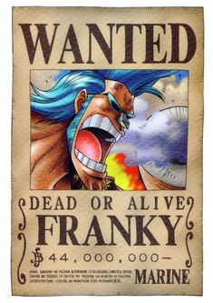 Poster One Piece Luffy Zoro Nami Wanted Franky 19 . Anime One Piece, One Piece Ace, Poster One Piece, Read One Piece Manga, One Piece Chapter, One Piece Luffy, Manga To Read, Otaku Anime, Manga Anime