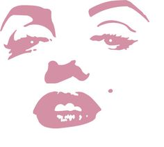 Marilyn Monroe wall decal by VinylDesignShop on Etsy