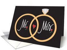 Wedding Anniversary with Overlapping Rings and Roses card by Chebellanota
