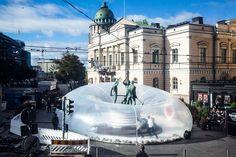 Gallery of Plastique Fantastique Wrap Inflatable Intervention around Historic Sculpture for Helsinki Design Week - 2