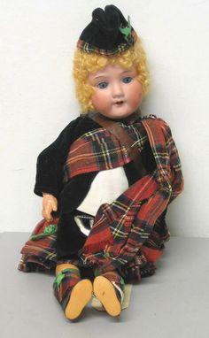 Armand Marseille Dolls | 4009: Armand Marseilles Scottish lass doll, , Stamped: