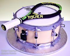 Drum & Tennis Cake
