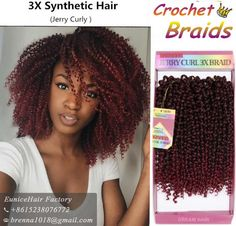 Online Shop New Synthetic jerry curly Bundle Braid DEEP WAVE synthetic ombre braiding hair extension crochet braids per pack water wave Fancy Hairstyles, Curled Hairstyles, Jerry Curl Hair, Curly Crochet Hair Styles, Crotchet Braids, Curly Braids, Braid In Hair Extensions, Braids For Black Women, Dream Hair
