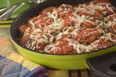 Skillet Eggplant Parmigiana   MrFood.com