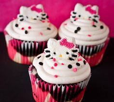 10 Amazing Hello Kitty Cupcakes Recipes to Surprise your child