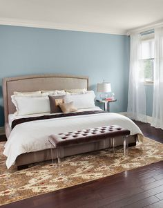 The Best Benjamin Moore Paint Colors: Nimbus Gray Bedroom Color