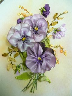 Wonderful Ribbon Embroidery Flowers by Hand Ideas. Enchanting Ribbon Embroidery Flowers by Hand Ideas. Types Of Embroidery, Learn Embroidery, Embroidery Art, Hardanger Embroidery, Embroidery Stitches, Embroidery Patterns, Embroidery Bracelets, Cross Stitches, Ribbon Embroidery Tutorial