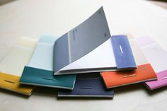 little matchbook notebooks made from paint chips